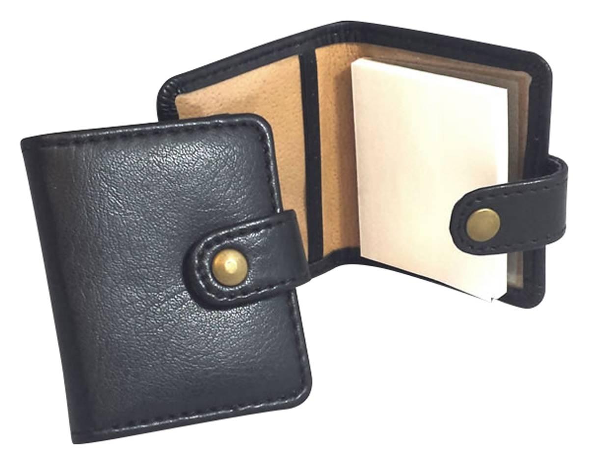 David Van Hagen Unisex Leather Mini Sticky Notes Holder - Black by David Van Hagen (Image #1)