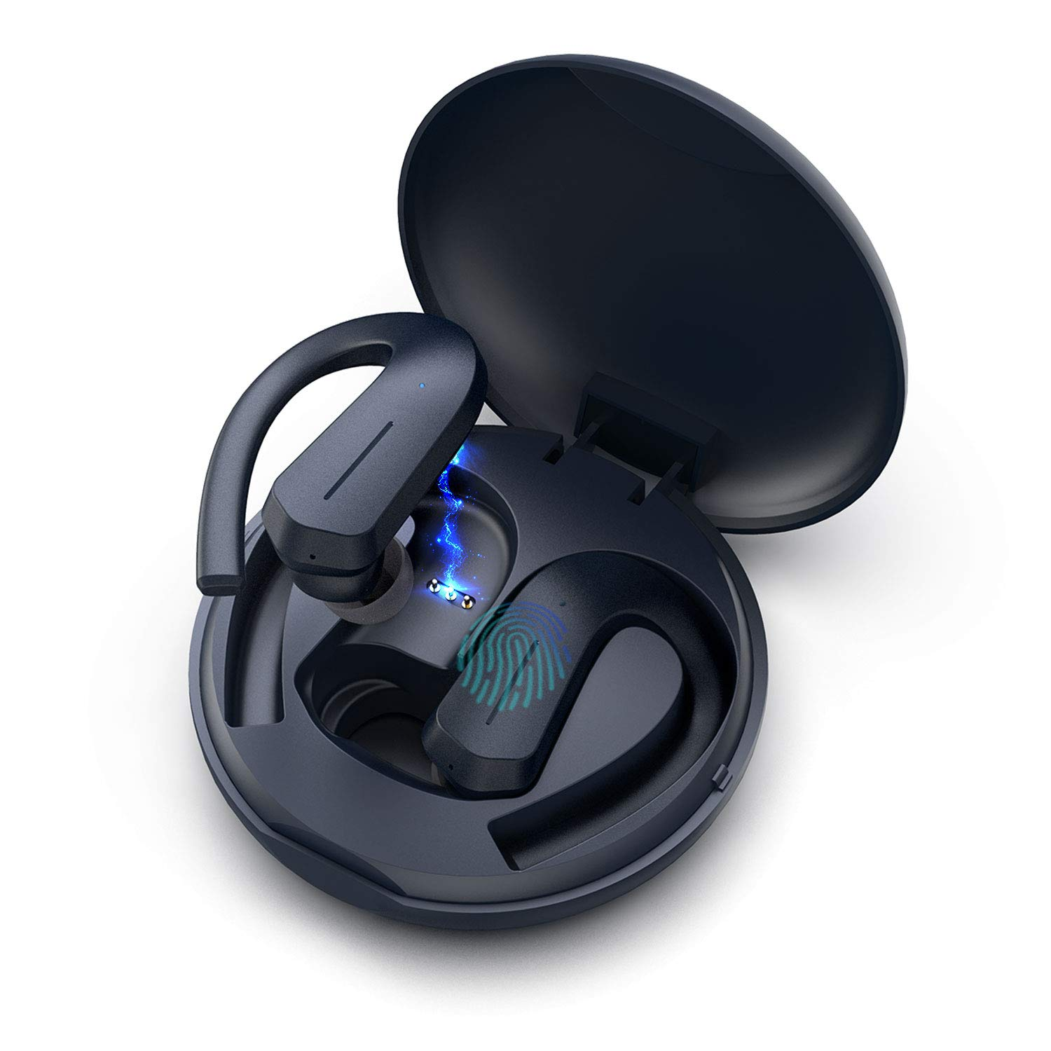 GGMM True Wireless Earbuds, Volume Touch Control, Wireless Headphones Bluetooth 5.0, 36H Playtime IPX7 Waterproof, in Ear Earphones with Mic TWS Stereo Deep Bass Headset for Sports with Charging Case