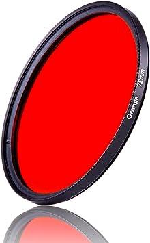 1pcs 30mm 37mm 40.5mm 43mm 46mm 49mm 52mm 55mm 58mm 62mm 67mm 72mm 77mm 82mm Full Orange Color Lens Filter Protector 77mm