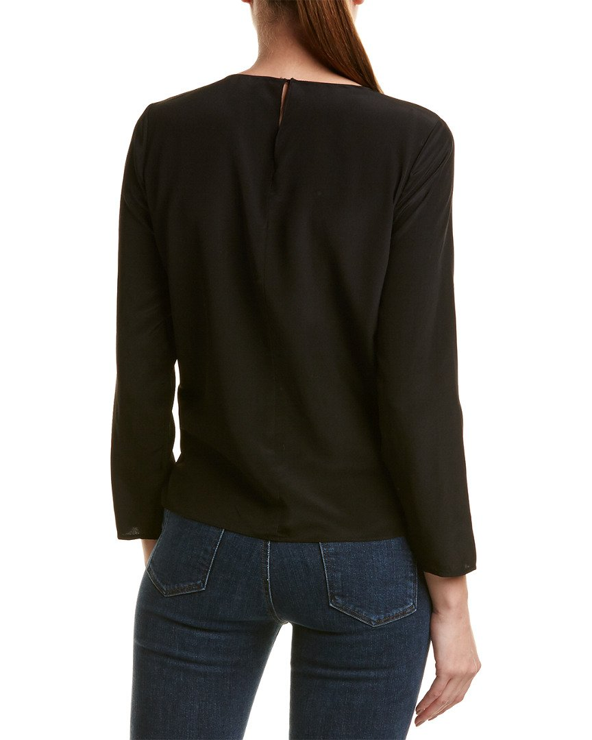 Rebecca Taylor Womens Twisted Silk Top, 10, Black by Rebecca Taylor (Image #2)