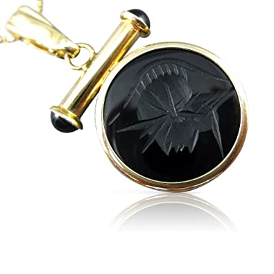 3ee1282c81621 Amazon.com: Milano Jewelers EXTRA LARGE AAA BLACK ONYX 14KT YELLOW ...