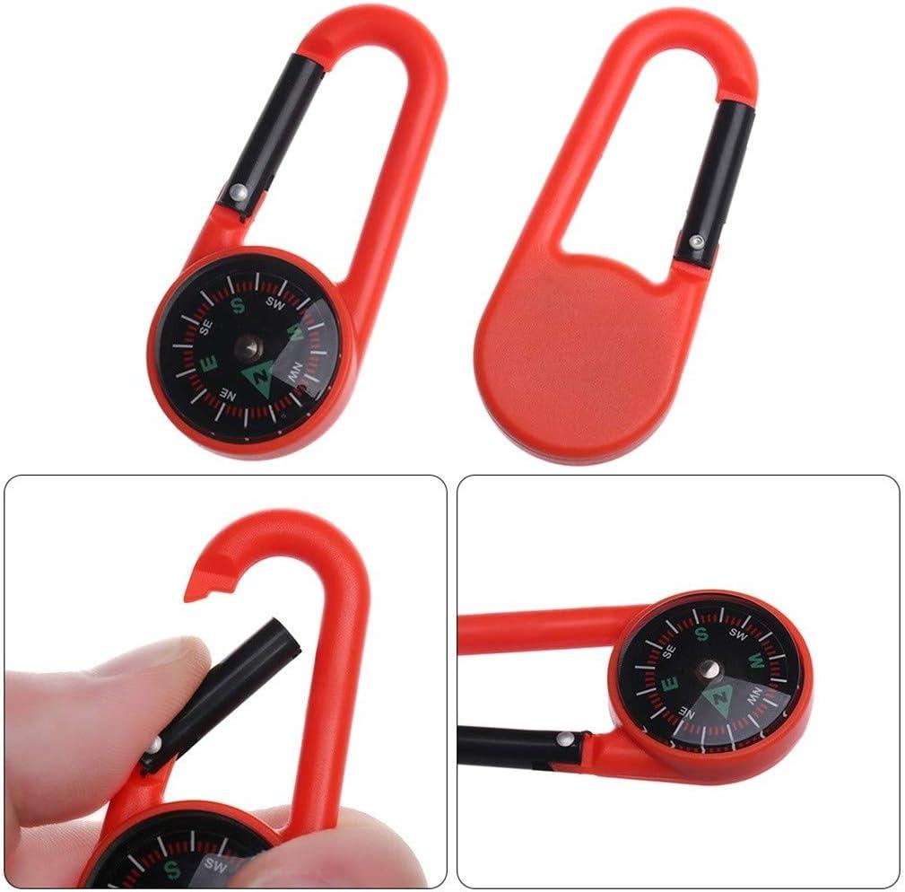 Guides de mousqueton Compasse Keychain Climbing Boussole,TwoCC Mini Portable Compass