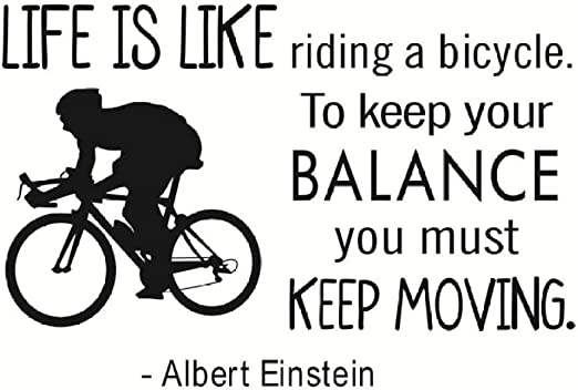 KAMAUAY Citas De Motivación La Vida Es como Andar En Bicicleta ...