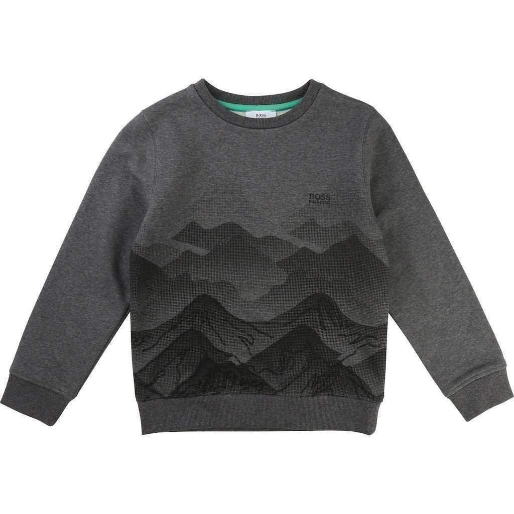 Dark Gray Mountain Fleece Long Sleeve Shirt