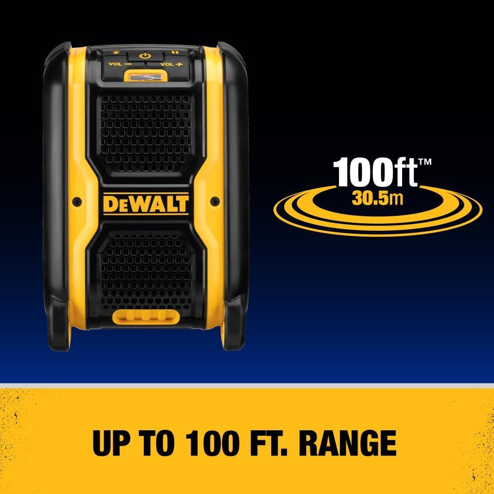 DCR006 DEWALT 20V MAX Bluetooth Speaker for Jobsite