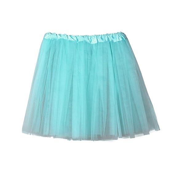 DEELIN Moda para Mujer De Color SóLido para Mujer Gasa Plisada ...