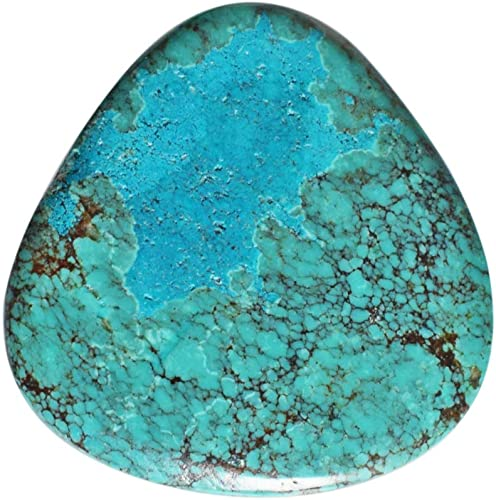 26.80 Carat Turquoise Natural Tibetan Turquoise 0val Cabochon Code BS366 37x29x4.50 MM Size Loose Tibetan Turquoise Jewelry Cabochon