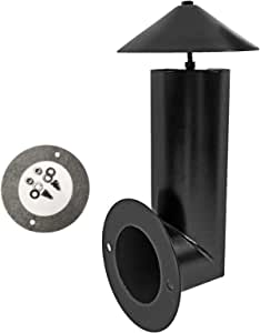 SafBbcue Grill Smoke Stack Compatible with Pit Boss, Traeger, Camp Chef and and Other Pellet Smokers Grills Chimney | Porcelain Steel