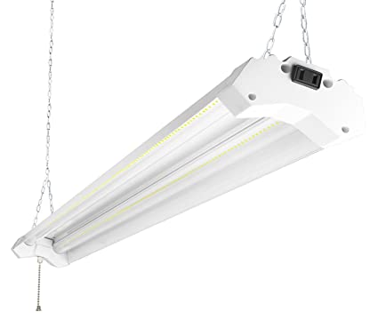 Hykolity 4ft 40w led shop garage hanging light fixture 4800 lumens 5000k daylight white linkable 64w