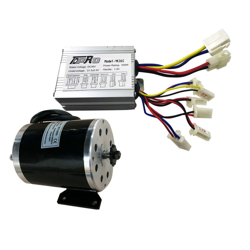 36V 500W Motor Controller With DC Electric Motor For Electric Bicycle Scooter ATV (Controller Motor Kit)