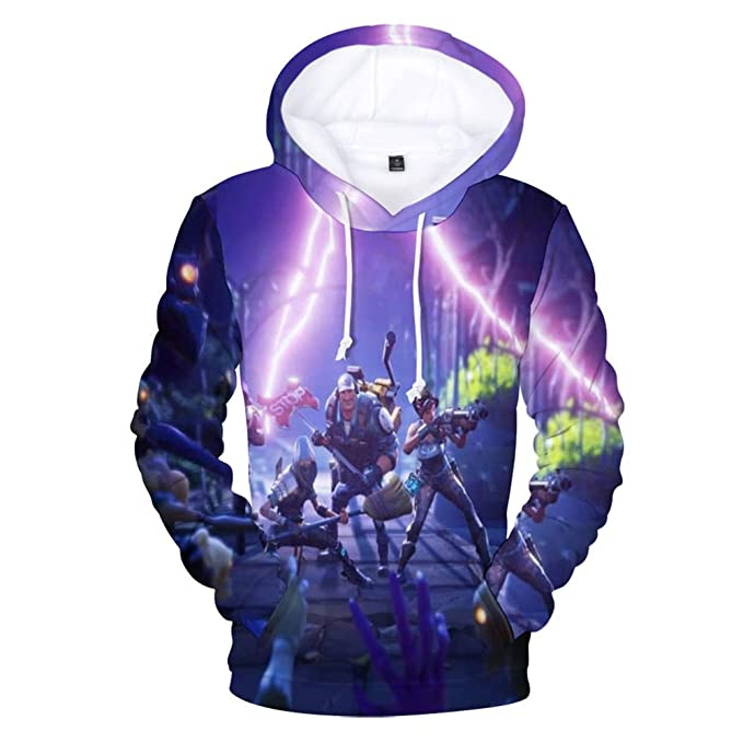 c6149384179 Xmeng Unisex 3D Printing Hoodie Novelty Youth Game Sweatshirt Pullover with  Pockets  Amazon.ca  Clothing   Accessories
