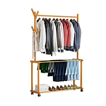 Amazon.com: Coat Stand Hanger Floor Bedroom Pants Rack ...