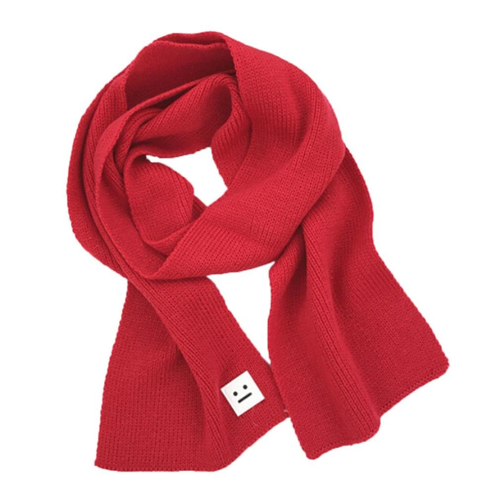 Iuhan Fashion Smile Children Knitted Shawls Winter Soft Warm Girls Boys Scarves