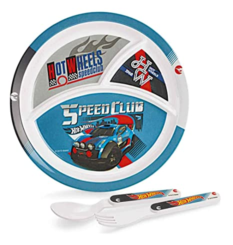 Cello Melmoware Round Shaped Hot Wheels Zoom Meal Set, Set of 3