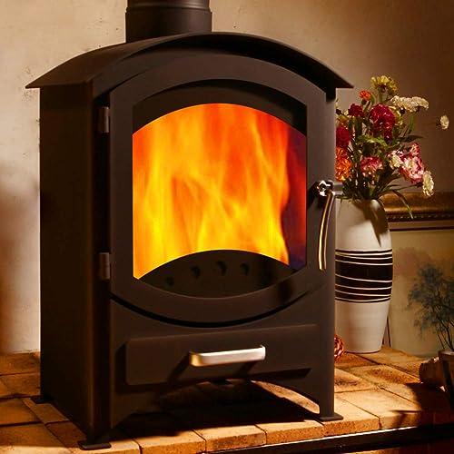 Life Time Warranty 9KW Efficiency 81% Cast Iron Burning Stove Log Multifuel Wood Coal