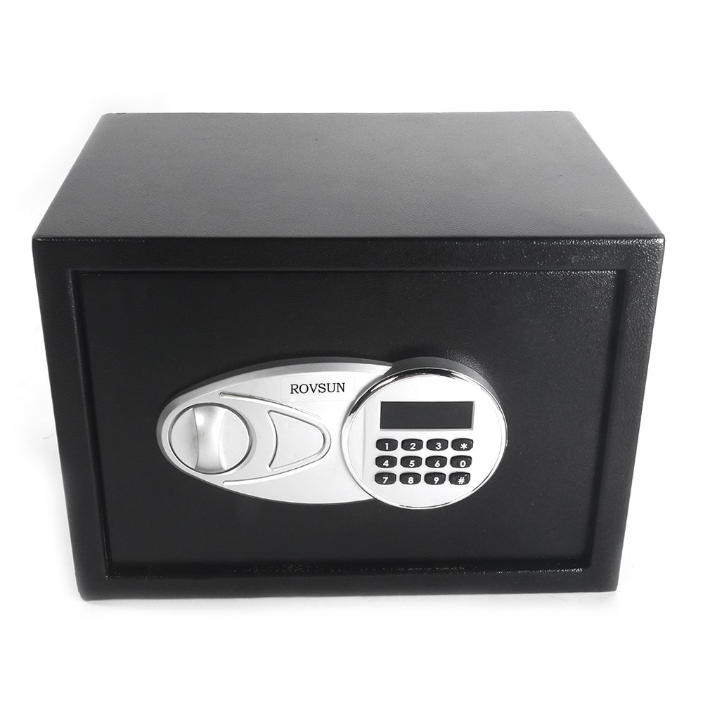 ROVSUN Electronic Security Safe Box 0.5 Cubic Feet Digital Cabinet with Keypad Lock&Solid Steel Construction, Great for Home Office Hotel Business Cash Jewelry Wallet Valuable (Included Battery)