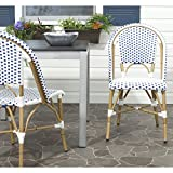 Safavieh Home Collection Salcha Blue and White Indoor/Outdoor Stacking Side Chair (Set of 2)