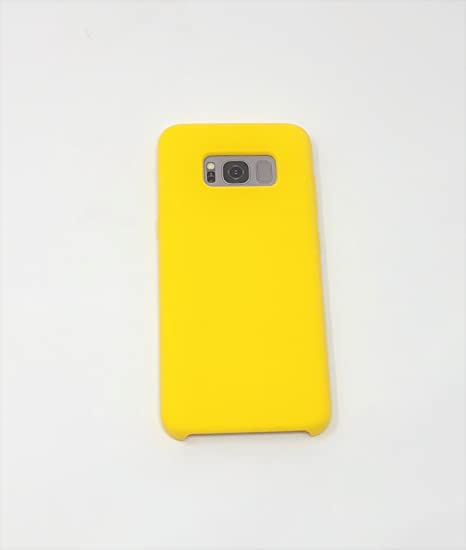 the latest 2f290 dca0b Amazon.com: Samsung Galaxy S8 Plus Basic Yellow Skin Phone Case ...