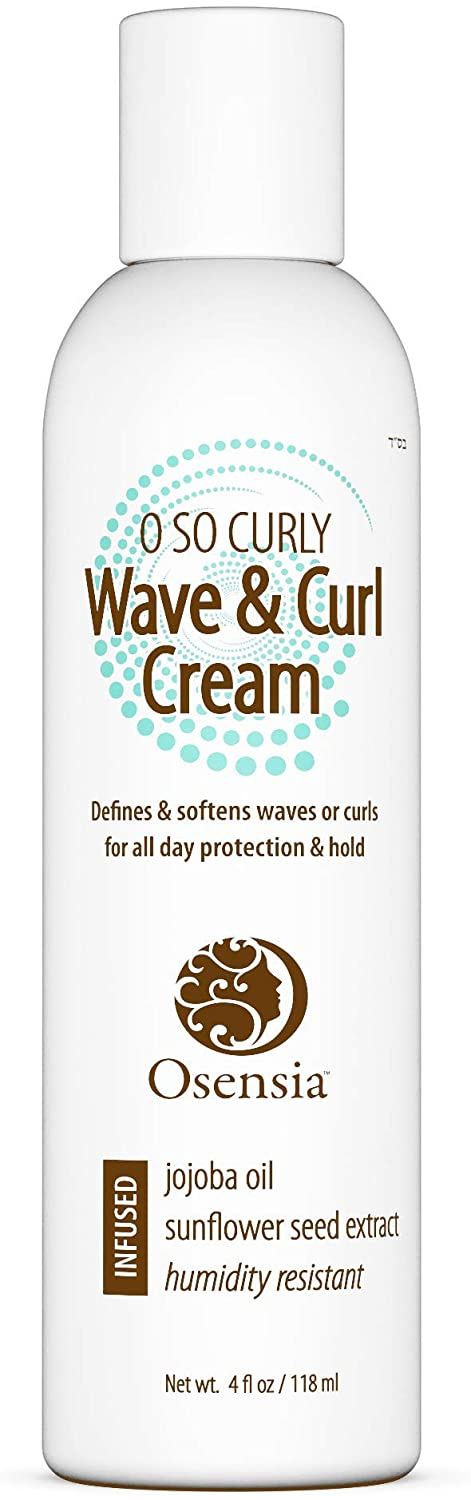 Curl Defining Cream Activator for Soft Beautiful Curls - Lightweight Jojoba Oil, Sunflower Seed - Paraben, Sulfate, Alcohol Free Hair Cream for Dry, Frizzy, Color Treated Hair by Osensia, 4 Ounces