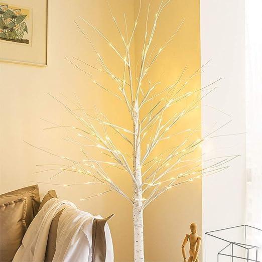 Little ZhuZhu Lámpara de pie de Abedul, Luces de árbol de los ...