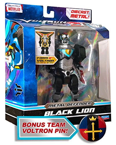 Voltron Legendary Metal Defender 8 inch Die-Cast Combinable - Black Lion Action Figure & Lion Force Emblem (Voltron Force Costume)