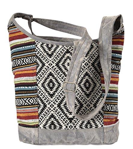 Handbag Shopper with Bag Shoulder made Bag of Bag Canvas Crossbody Leather Women's Sunsa nSO0xRqwTn