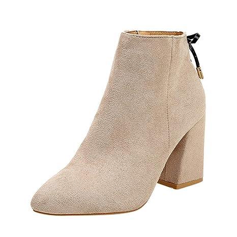 Martín Botas Mujer OtoñO Invierno Corto Zapatos De Mujer Botas De Mujer Acentuados Cabeza Grueso Botines