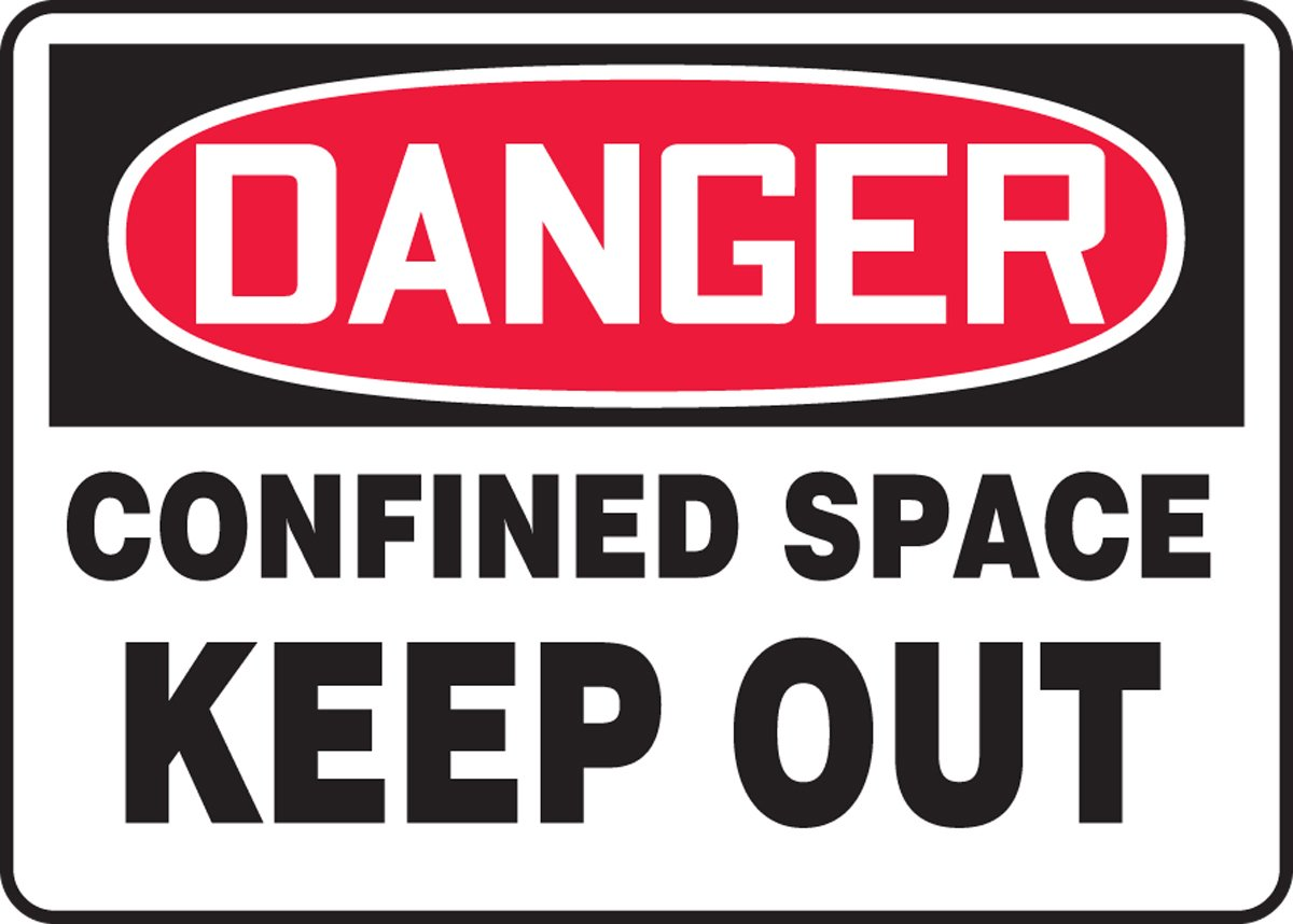 14 Length x 20 width x 0.040 Thickness 14 Height Red//black On White Accuform MCSP050VA Aluminum Sign 14 x 20 LegendDANGER Confined Space Keep Out 20 Wide Aluminum 14 Length