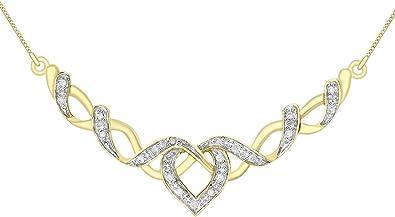 Carissima Gold Damen Kette 375 9 Karat (375) Bicolor Diamant 4.3 cm
