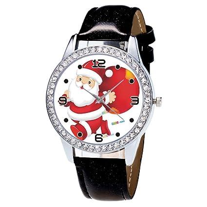 Relojes Mujer, Zolimx Mujeres Ven la Navidad de Diamantes de Cuero Banda Analógica de Cuarzo