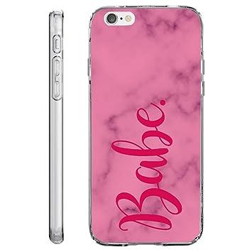 Loose Publicidad técnica Teléfono Móvil, TPU Carcasa Funda Case Cover, resistente a arañazos suave flexible silicona para iPhone mármol, 0, Babe Marmor, ...
