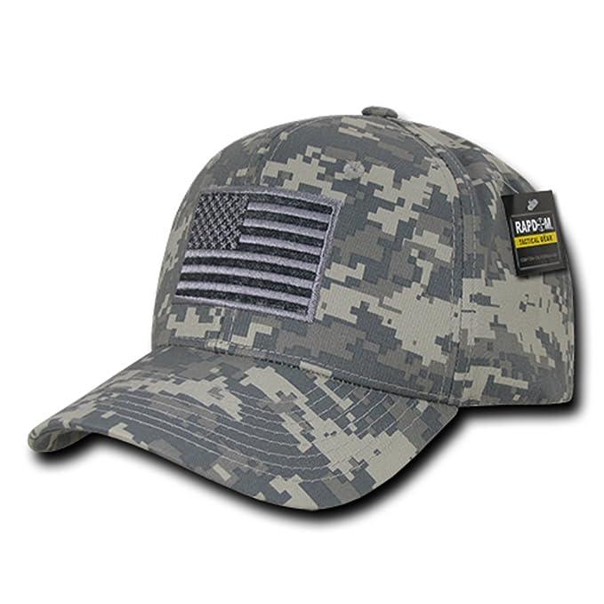 4d7c9b710eb18 Rapdom Tactical USA Embroidered Operator Cap - ACU Camo at Amazon ...
