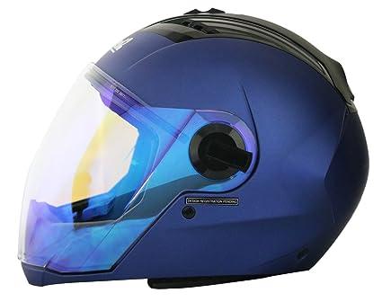 c6bc1347 Steelbird SBA-2 Full Face Helmet with Blue Visor (Yamaha Blue, Large):  Amazon.in: Car & Motorbike