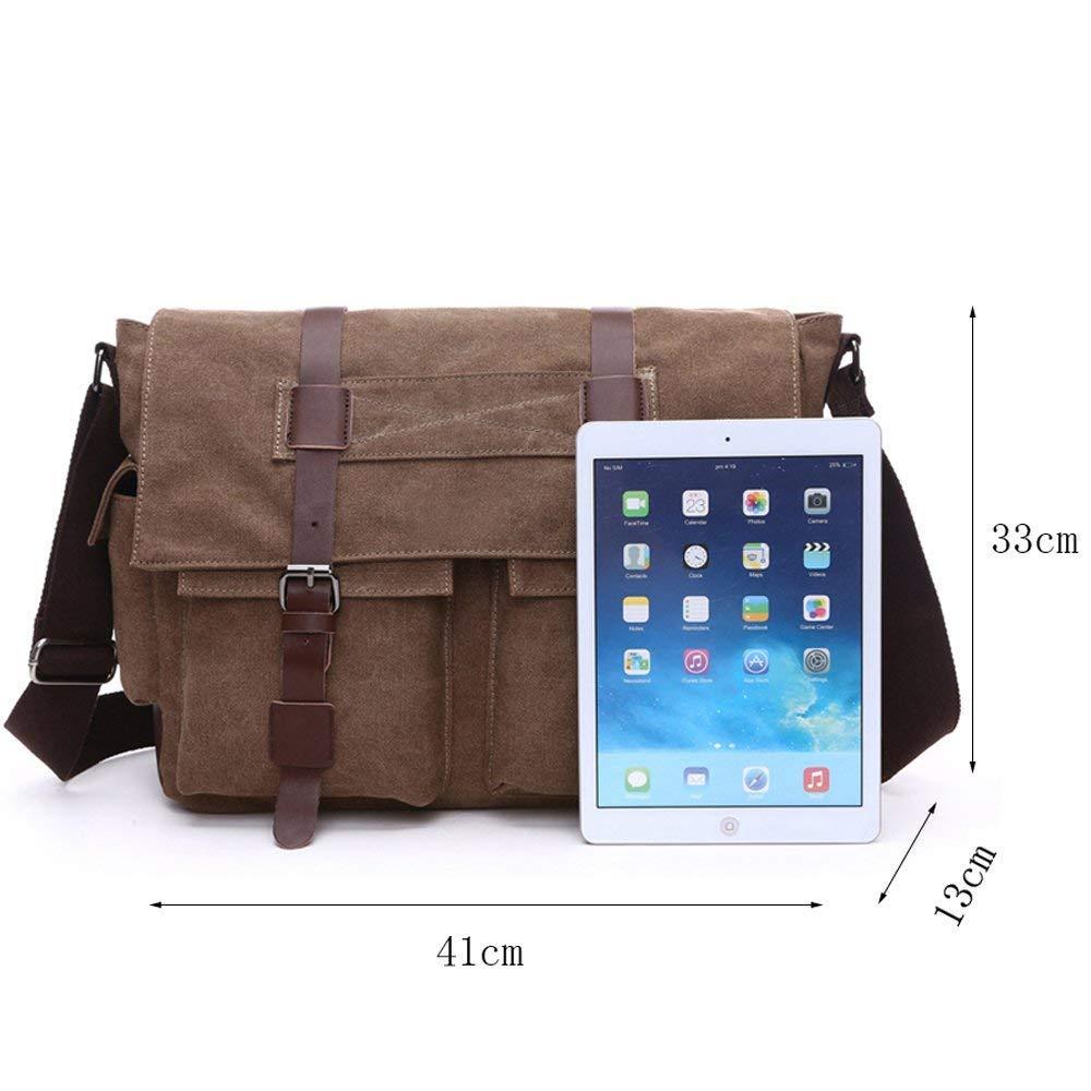 Baobei Outdoor Sports Parade Shoulder Bag Men's Messenger Bags 16 inches Vintage Military Canvas Bag Laptop Bag Work School Multiple Pocket.