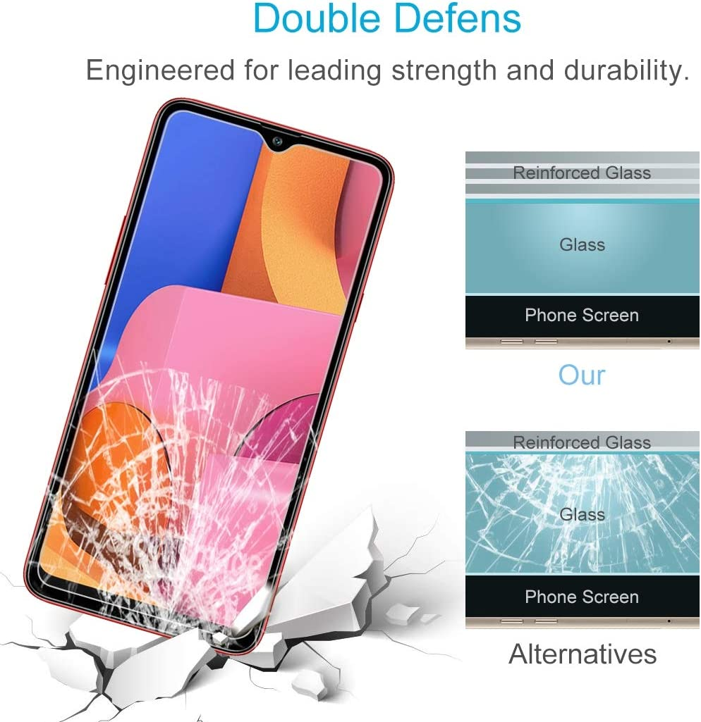 Pokjsofjnjlfkl Phone Products 50 PCS 0.26mm 9H 2.5D Tempered Glass Film for Galaxy A20s Screen Protectors for Phone