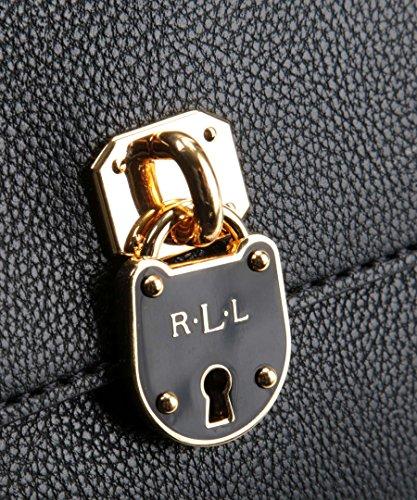 Ralph Lauren , Damen Umhängetasche Schwarz schwarz 17 x 14 x 5 cm (W x H x D)