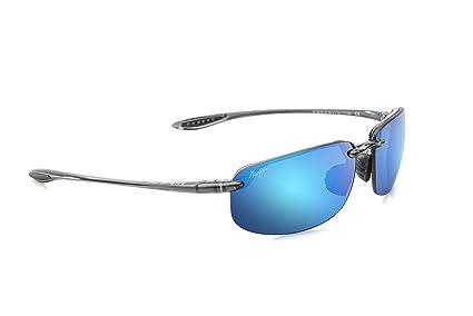f6fc71795a Amazon.com: Maui Jim Sunglasses | Ho'okipa B407-11 | Polarized Smoke Grey  Rimless Frame, Blue Hawaii Lenses, with with Patented PolarizedPlus2 Lens  ...