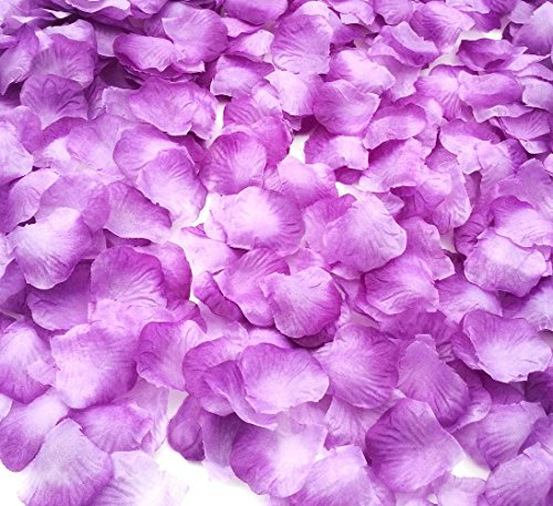 CODE FLORIST Smile Party 2200 PCS Light Purple Silk Rose Petals Wedding Flower Decoration]()