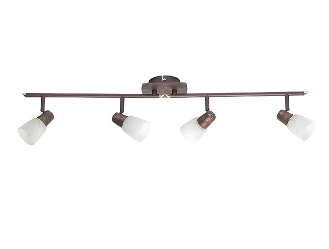 Brilliant Milos 17832/56 - Lámpara de techo (4 bombillas E14, máximo 40 W), color bronce