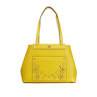 3320fcddacff Michael Kors Meredith Medium East West Bonded Tote- Sunflower ...