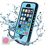 iPhone 5S Waterproof Case, Febe iPhone 5 Waterproof Case - Protective Cases Cover for Apple iPhone 5S 5 iPhone 5 Case / iPhone 5S Case with Built-in Ultra Clear Screen Protector - Slimmest Profile with Capability of WaterPROOF, ShockPROOF, SandPROOF, SnowPROOF [Works with TouchID] - Blue