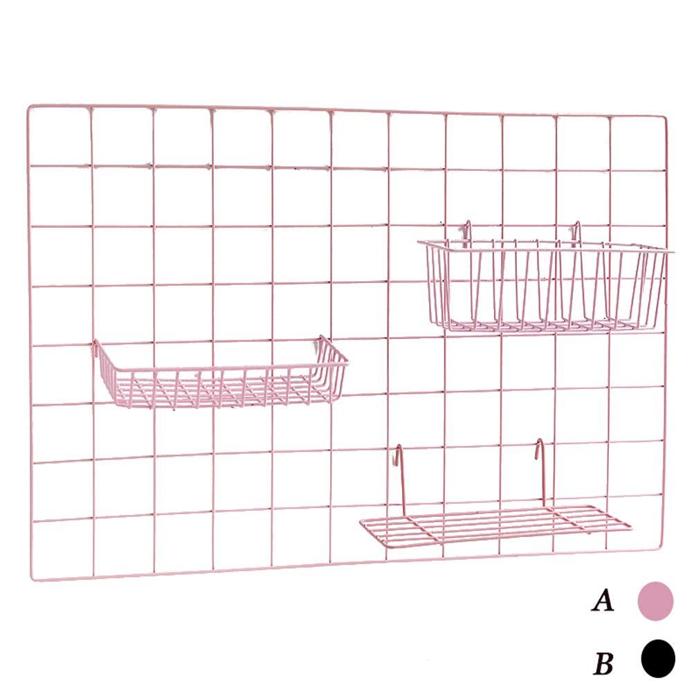 Uioy Hängende Platte des Korbfotowanddekorationsraumwandspeicherregals hängende Platte (Farbe   SCHWARZ)
