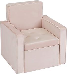 INSPIRE ME HOME DECOR Jolie Storage Chair, Blush