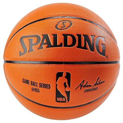 Spalding NBA Replica Indoor/Outdoor Game Ball, Orange, Size 6/28.5-Inch