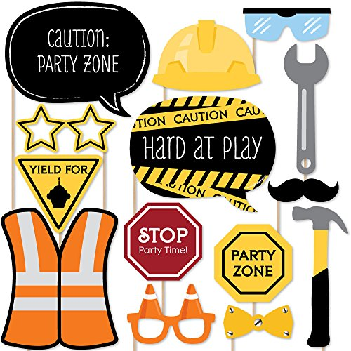 Construction Truck - Photo Booth Props Kit - 20 Count by Big Dot of Happiness