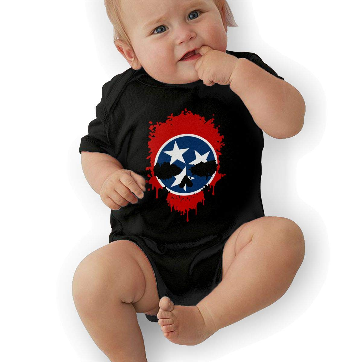 U88oi-8 Short Sleeve Cotton Rompers for Baby Boys and Girls Fashion Tennessee Skull Sleepwear