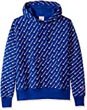 Champion LIFE Men's Reverse Weave Pullover Hood-Print, Diagonal Script Surf the Web, Small