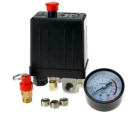 """4 puerto 1/4 """"BSP compresor de aire interruptor de presión + de"""