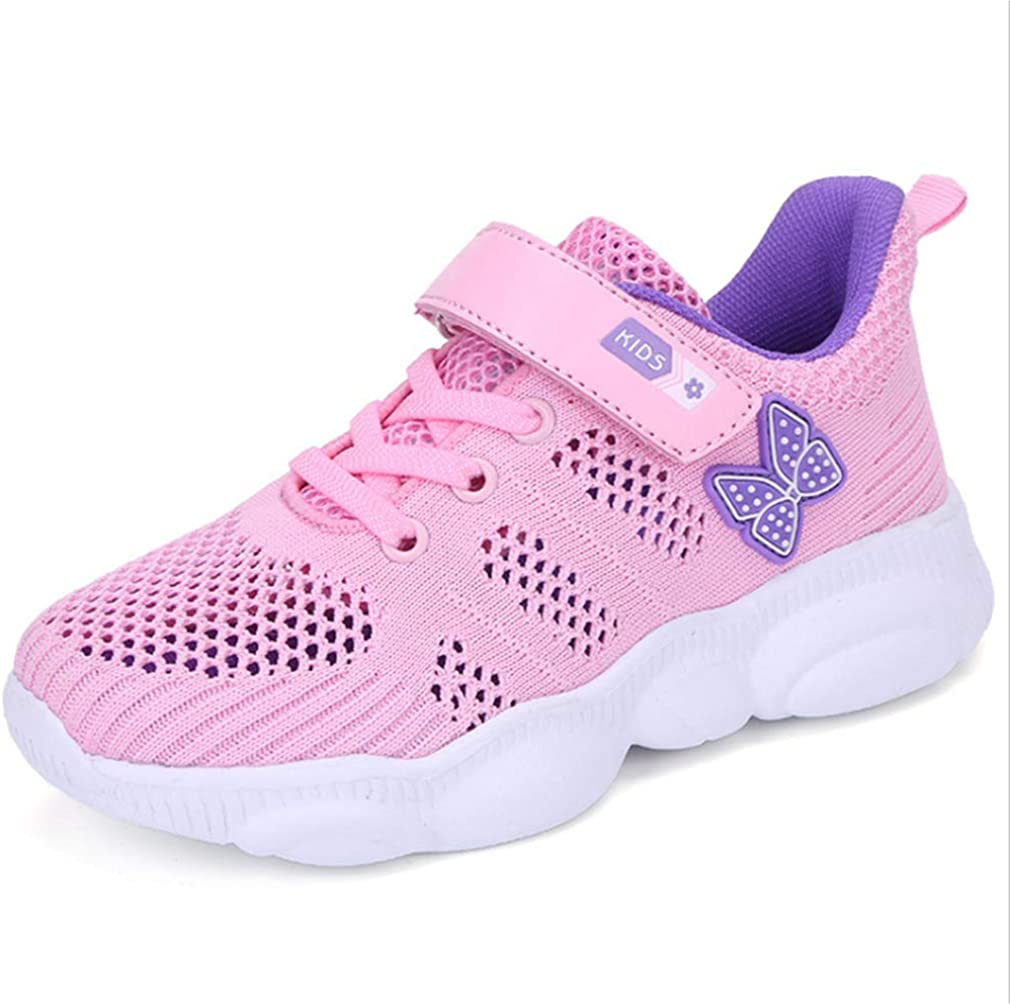 Super explosion Kids Lightweight Cute Sneakers Boys and Girls Casual Running Shoes Pink-EU 32//1 M US Little Kid