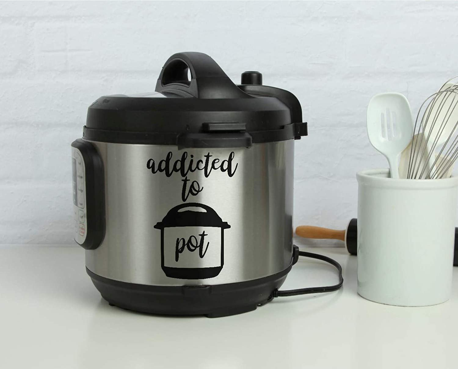 Addicted Pot pressure cooker decal pot head kitchen decoration gift for her Christmas gift